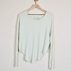 FREE PEOPLE We The Free Waffle Knit Thermal Tee